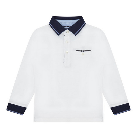 Long Sleeve Polo Shirt Kids, ${color}