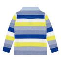 Long Sleeve Striped Polo Shirt Kids, ${color}