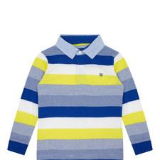 Long Sleeve Striped Polo Shirt Kids
