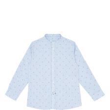 Printed Mandarin Collar Shirt