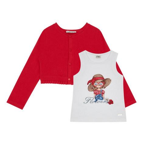 Cardigan T-Shirt Set Kids, ${color}