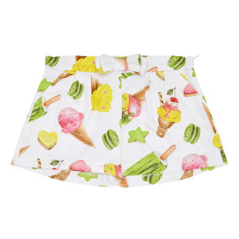 Ice-Cream Print Shorts, ${color}