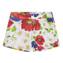 Floral Print Shorts Kids, ${color}