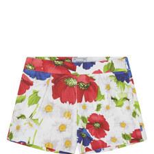 Floral Print Shorts Kids