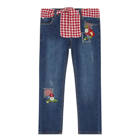 Slim Fit Embroidered Jeans, ${color}