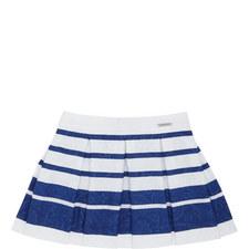 Floral Stripe Skirt Kids