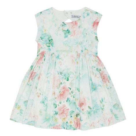 Floral Satin Dress Kids, ${color}