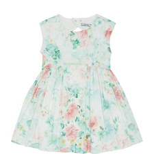 Floral Satin Dress Kids