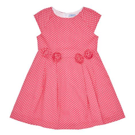 Polka Dot Print Dress, ${color}