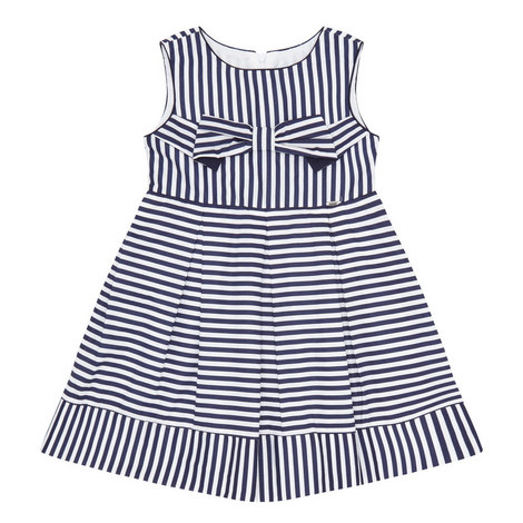 Striped Bow Detail Dress, ${color}