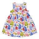 House Print Dress Kids, ${color}