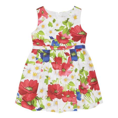 Floral Print Dress Kids, ${color}
