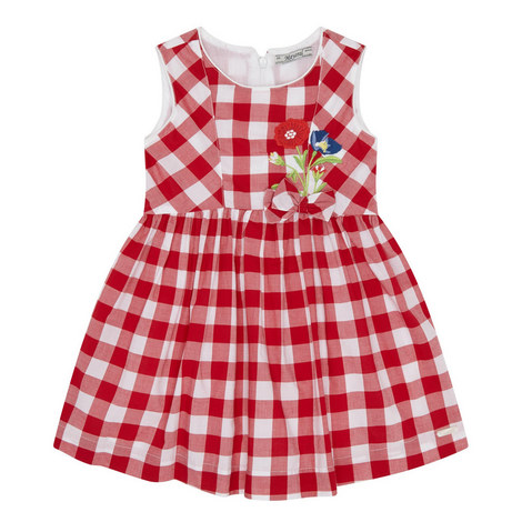 Floral Check Dress Kids, ${color}