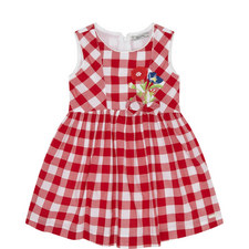 Floral Check Dress Kids