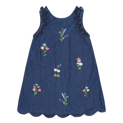 Floral Denim Dress, ${color}