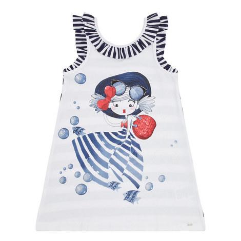 Girl Print Stripe Dress, ${color}