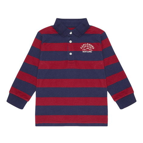 Stripe Polo Shirt - 3-9 Years, ${color}