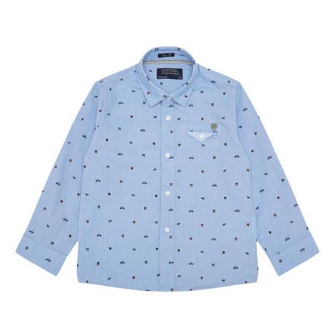 Micro Pattern Shirt Kids, ${color}