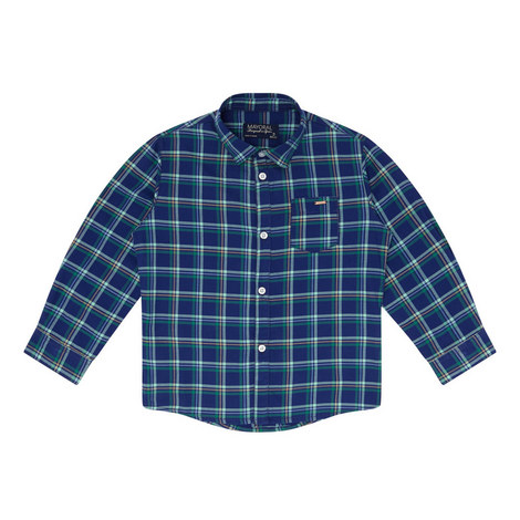 Long Sleeve Check Shirt Kids, ${color}