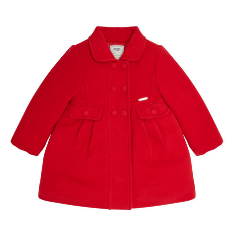 Buttoned Peacoat Coat - 3-9 Years, ${color}
