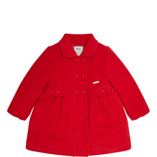 Buttoned Peacoat Coat - 3-9 Years