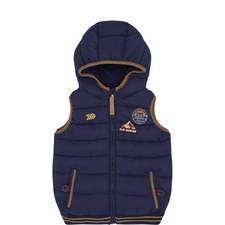 Hooded Appliqué Gilet Toddler