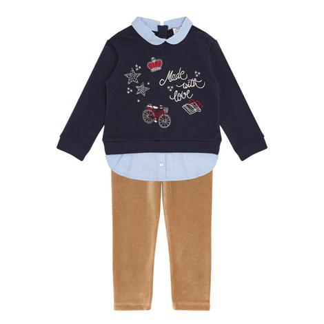 Sweatshirt andCorduroyLeggings Set Kids, ${color}