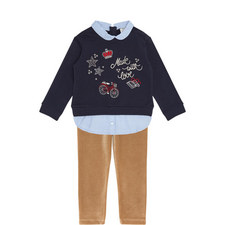 Sweatshirt and Corduroy Leggings Set Kids