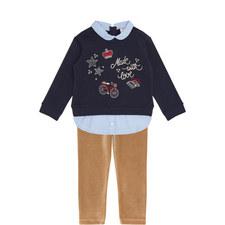 Sweatshirt andCorduroyLeggings Set Kids