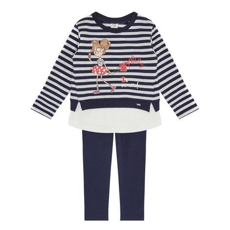 Legging and Stripe Sweatshirt Set Kids, ${color}
