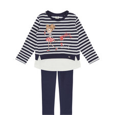 Legging and Stripe Sweatshirt Set Kids