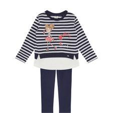 Legging and Stripe Sweatshirt Set Toddler