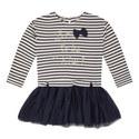 Stripe Tulle Dress Kids, ${color}