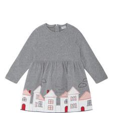 House Appliqué Dress - 3-9 Years