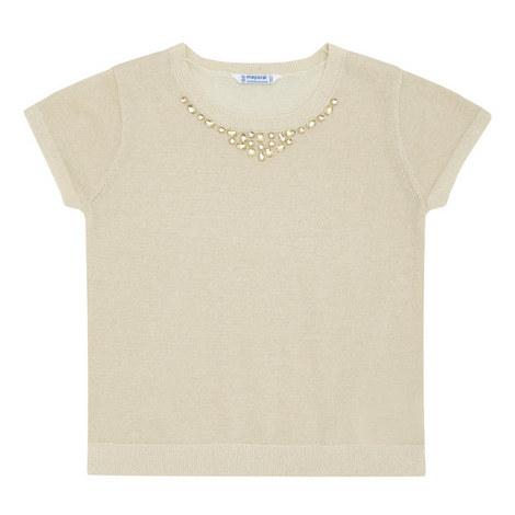 Short Sleeve Lurex Top, ${color}
