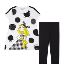 Two-Piece Leggings & T-Shirt Set