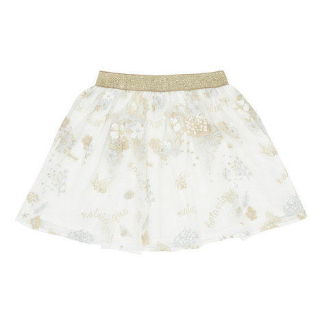 Embroidered Tulle Skirt, ${color}