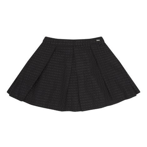 Textured Skater Skirt, ${color}