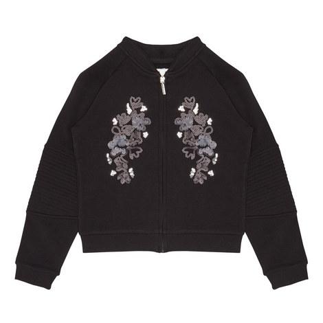 Sequin Jersey Jacket, ${color}