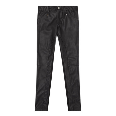 Leather-Look Trousers Teens, ${color}
