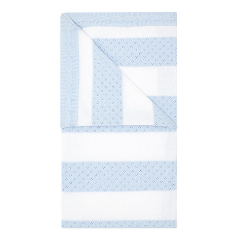 Blue and White Baby Blanket, ${color}