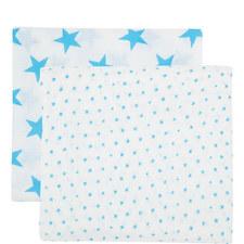 Star Print Swaddling Blanket Two Pack