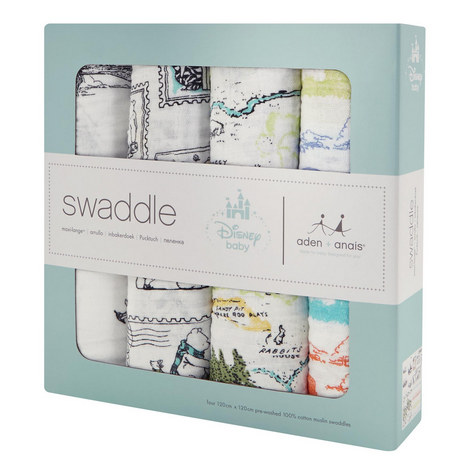 4 Pack Winnie The Pooh Swaddles, ${color}