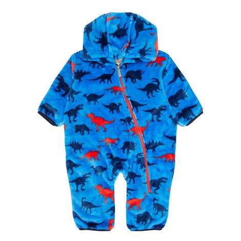 Dino Fuzzy Fleece Bundler Baby, ${color}