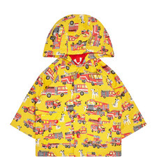 Fire Truck Raincoat Baby