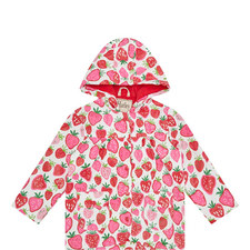 Strawberry Print Raincoat Kids