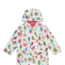 Bird Patterned Raincoat - 2-8 Years