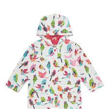 Bird Patterned Raincoat Kids