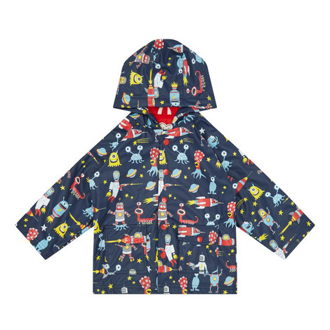 Space Aliens Raincoat - 2-8 Years, ${color}