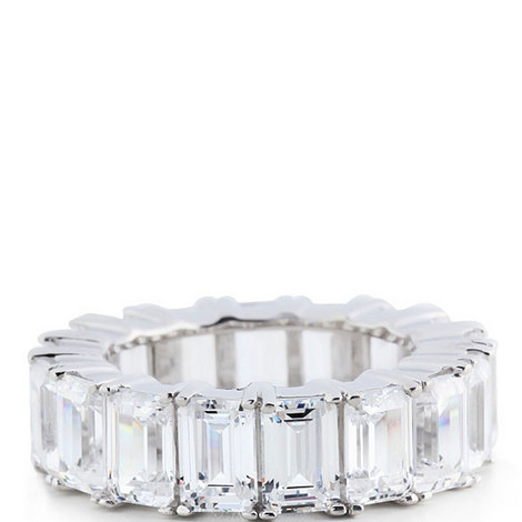 Crystal Baguette Ring Large, ${color}